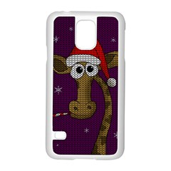 Christmas Giraffe  Samsung Galaxy S5 Case (white)