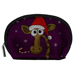 Christmas Giraffe  Accessory Pouches (large)