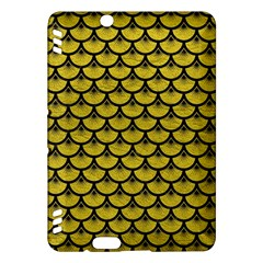 Scales3 Black Marble & Yellow Leather Kindle Fire Hdx Hardshell Case