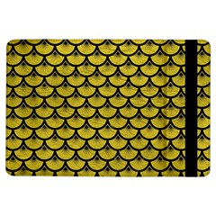 Scales3 Black Marble & Yellow Leather Ipad Air Flip