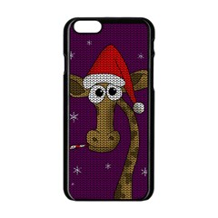 Christmas Giraffe  Apple Iphone 6/6s Black Enamel Case