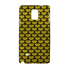 Scales3 Black Marble & Yellow Leather Samsung Galaxy Note 4 Hardshell Case
