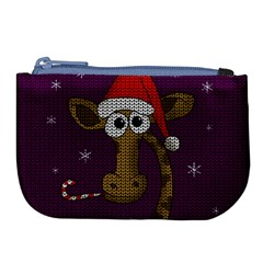 Christmas Giraffe  Large Coin Purse