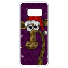 Christmas Giraffe  Samsung Galaxy S8 White Seamless Case