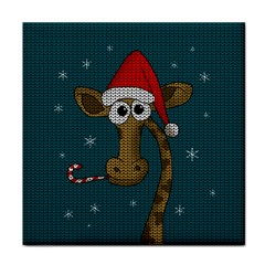 Christmas Giraffe  Tile Coasters