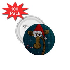 Christmas Giraffe  1 75  Buttons (100 Pack)