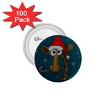 Christmas Giraffe  1.75  Buttons (100 pack)  Front