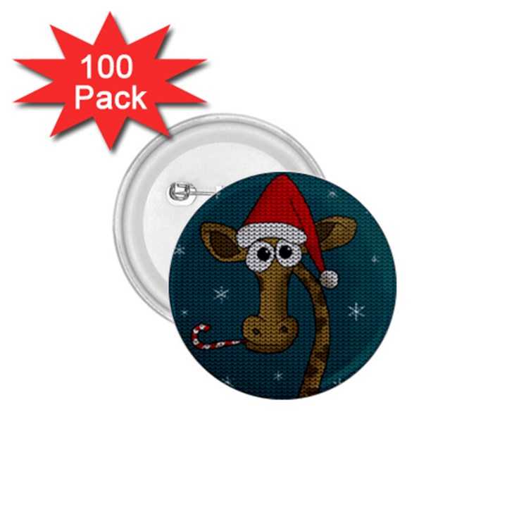 Christmas Giraffe  1.75  Buttons (100 pack)