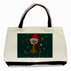 Christmas Giraffe  Basic Tote Bag
