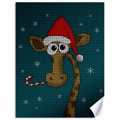 Christmas Giraffe  Canvas 18  X 24
