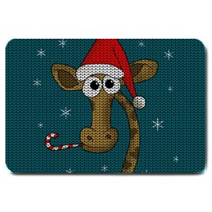 Christmas Giraffe  Large Doormat