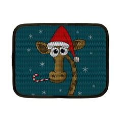 Christmas Giraffe  Netbook Case (small)