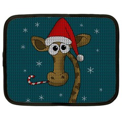 Christmas Giraffe  Netbook Case (large)