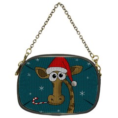 Christmas Giraffe  Chain Purses (two Sides)