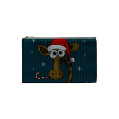 Christmas Giraffe  Cosmetic Bag (small)