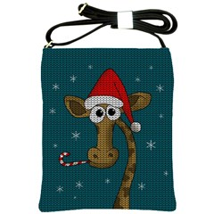 Christmas Giraffe  Shoulder Sling Bags