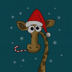 Christmas Giraffe  Magic Photo Cubes