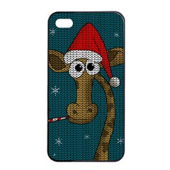 Christmas Giraffe  Apple Iphone 4/4s Seamless Case (black)