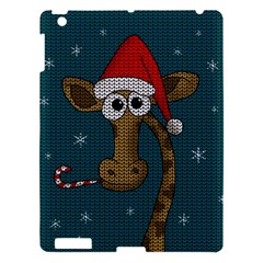 Christmas Giraffe  Apple Ipad 3/4 Hardshell Case