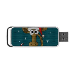 Christmas Giraffe  Portable Usb Flash (two Sides)