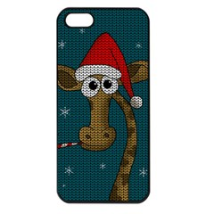 Christmas Giraffe  Apple Iphone 5 Seamless Case (black)