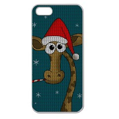 Christmas Giraffe  Apple Seamless Iphone 5 Case (clear)