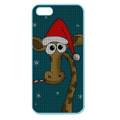 Christmas Giraffe  Apple Seamless Iphone 5 Case (color)