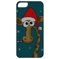 Christmas Giraffe  Apple Iphone 5 Classic Hardshell Case
