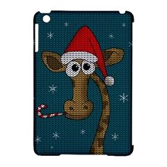 Christmas Giraffe  Apple Ipad Mini Hardshell Case (compatible With Smart Cover)