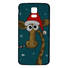 Christmas Giraffe  Samsung Galaxy S5 Back Case (white)