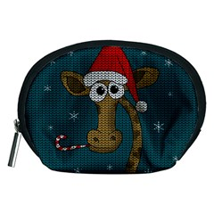 Christmas Giraffe  Accessory Pouches (medium)