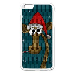 Christmas Giraffe  Apple Iphone 6 Plus/6s Plus Enamel White Case