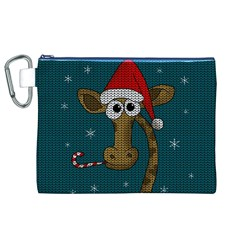 Christmas Giraffe  Canvas Cosmetic Bag (xl)