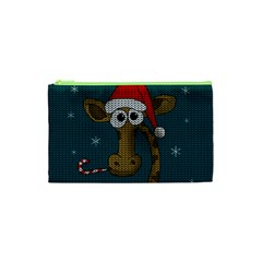 Christmas Giraffe  Cosmetic Bag (xs)