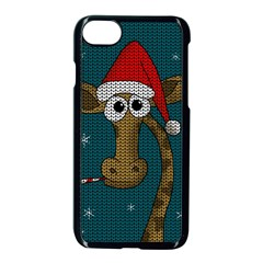 Christmas Giraffe  Apple Iphone 7 Seamless Case (black)
