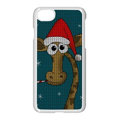 Christmas Giraffe  Apple Iphone 8 Seamless Case (white)