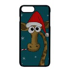 Christmas Giraffe  Apple iPhone 8 Plus Seamless Case (Black) Front