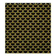 Scales3 Black Marble & Yellow Leather (r) Shower Curtain 66  X 72  (large)