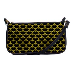 Scales3 Black Marble & Yellow Leather (r) Shoulder Clutch Bags