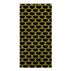 Scales3 Black Marble & Yellow Leather (r) Shower Curtain 36  X 72  (stall)