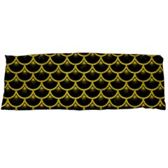 Scales3 Black Marble & Yellow Leather (r) Body Pillow Case Dakimakura (two Sides)