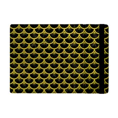 Scales3 Black Marble & Yellow Leather (r) Apple Ipad Mini Flip Case
