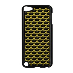 Scales3 Black Marble & Yellow Leather (r) Apple Ipod Touch 5 Case (black)