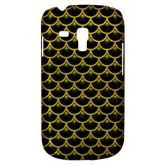 Scales3 Black Marble & Yellow Leather (r) Galaxy S3 Mini