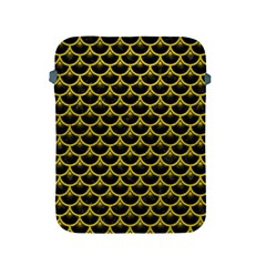 Scales3 Black Marble & Yellow Leather (r) Apple Ipad 2/3/4 Protective Soft Cases