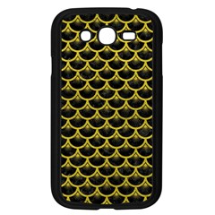 Scales3 Black Marble & Yellow Leather (r) Samsung Galaxy Grand Duos I9082 Case (black)