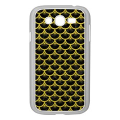 Scales3 Black Marble & Yellow Leather (r) Samsung Galaxy Grand Duos I9082 Case (white)