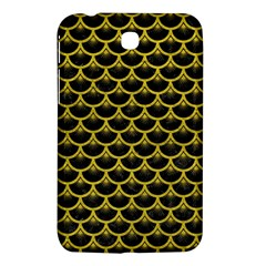 Scales3 Black Marble & Yellow Leather (r) Samsung Galaxy Tab 3 (7 ) P3200 Hardshell Case