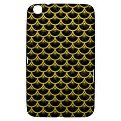 Scales3 Black Marble & Yellow Leather (r) Samsung Galaxy Tab 3 (8 ) T3100 Hardshell Case