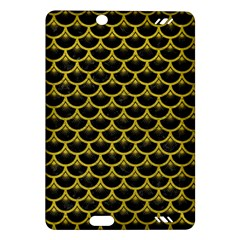 Scales3 Black Marble & Yellow Leather (r) Amazon Kindle Fire Hd (2013) Hardshell Case